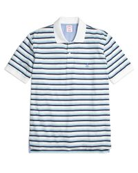 Brooks Brothers | White Original Fit Variegated Multistripe Polo Shirt for Men | Lyst