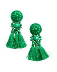 H&M | Green Earrings With Tassels | Lyst