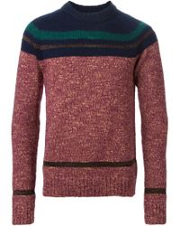 Kolor | Multicolor Striped Panel Sweater for Men | Lyst