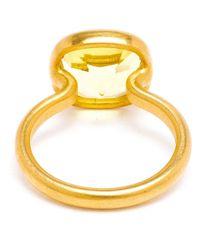 Marie-hélène De Taillac   Yellow 18Kt Gold Citron Quartz Ring   Lyst