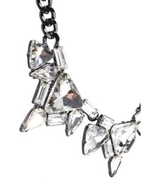 French Connection - Metallic Statement Geo Mixed Jewel Collar Necklace - Lyst
