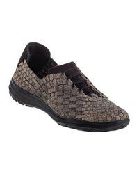 Bernie Mev | Metallic Victoria Sneaker Bronze Fabric | Lyst