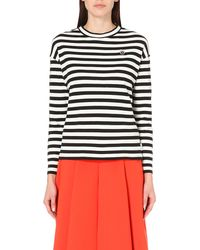 Chocoolate | Black Striped Cotton-jersey Top | Lyst