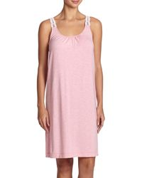 Hanro | Pink Liz Jersey Tank Gown | Lyst