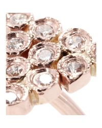 Jacquie Aiche - Pink 14kt Rose Gold Twin Diamond Triangle Ring - Lyst