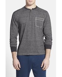 Threads For Thought | Gray Heathered Jersey Henley for Men | Lyst