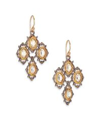 Alexis Bittar | Metallic Elements Desert Jasper Crystal Spur Lace Drop Earrings | Lyst