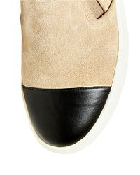 Steve Madden | Natural Emuse Suede Slip-on Sneakers | Lyst