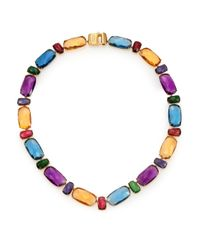 Marco Bicego | Metallic Murano Semi-precious Multi-stone & 18k Yellow Gold Collar Necklace | Lyst