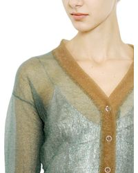 Rochas - Green Nylon Light Knit Cardigan - Lyst