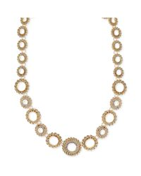 Jones New York | Metallic Goldtone Crystal Collar Necklace | Lyst