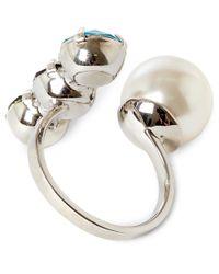 Joomi Lim - White Assorted Swarovski Crystal Open Ring - Lyst