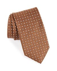 Eton of Sweden | Brown Dot Print Silk Tie for Men | Lyst