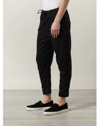 Chapter - Black Cropped Trousers for Men - Lyst