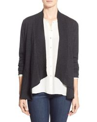 Eileen Fisher | Gray Shaped Cardigan | Lyst