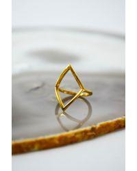 Loud Love   Metallic Loud Love Diamond Ring Gold Vermeil   Lyst
