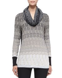 NIC+ZOE - Gray Blurred Lines Top - Lyst