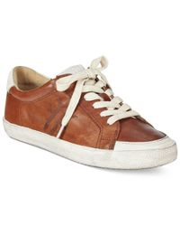 Frye | Brown Dylan Low Lace Sneakers | Lyst