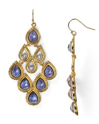 Alexis Bittar | Metallic Sodalite Articulating Scalloped Chandelier Earrings | Lyst