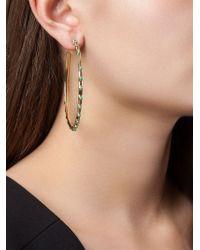 Aurelie Bidermann - Metallic 'wapiti' Hoop Earrings - Lyst