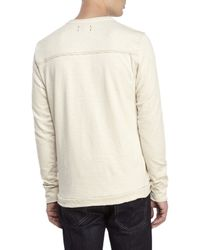 Jeremiah - Natural Camper Slub Henley for Men - Lyst