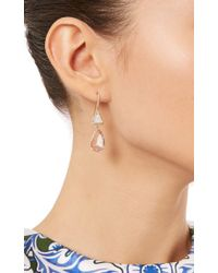 Nina Runsdorf - Multicolor One Of A Kind 18K Pink Gold Opal And Morganite Earrings - Lyst