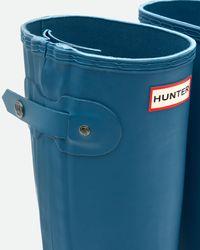 Hunter   Blue Women's Original Slim Two Tone Rain Boots   Lyst
