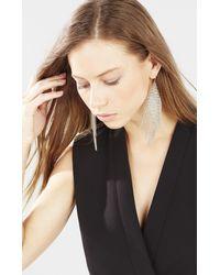 BCBGMAXAZRIA - Metallic Mesh Diamond Fringe Earrings - Lyst