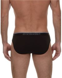 2xist | Black 3 Pack Stretch-cotton No Show Brief Set for Men | Lyst