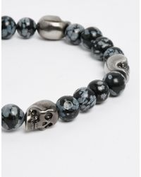 Simon Carter | Black Antiquated Skull Beaded Bracelet for Men | Lyst