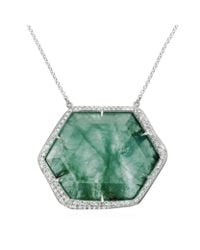 Monica Vinader | Green Gala Large Necklace | Lyst