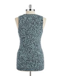 T Tahari | Blue Sweater Vest | Lyst