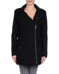 Balmain - Black Coat - Lyst
