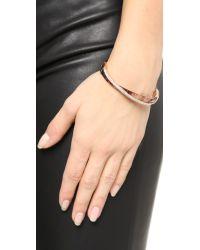 Michael Kors | Metallic Pave Crisscross Hinged Bracelet | Lyst