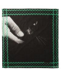Massimo Alba   Black Cat Print Scarf for Men   Lyst