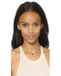 Ela Rae | Metallic Cleo Cage Necklace, 12"