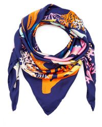 Karen Mabon - Black Swimming Sharks Silk Scarf - Lyst