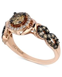 Le Vian | Brown Chocolate And White Diamond Ring (9/10 Ct. T.w.) In 14k Rose Gold | Lyst