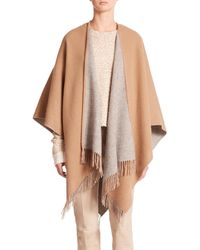 Rag & Bone | Natural Double Face Wool Poncho | Lyst