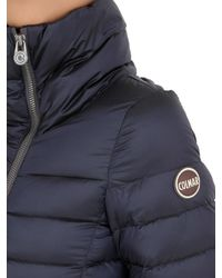 Colmar | Blue Off Center Shiny Nylon Down Jacket | Lyst