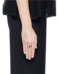 Iosselliani | Black Zircon Fan Ring | Lyst
