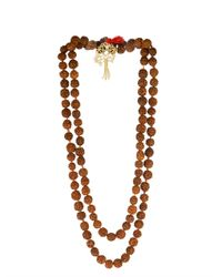 Zeus+Dione | Red Rudraksha Bead Gold-Plated Necklace | Lyst