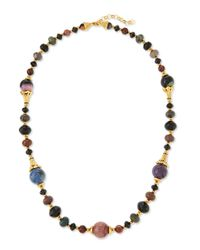 Jose & Maria Barrera - Red Single Strand Long Beaded Necklace - Lyst