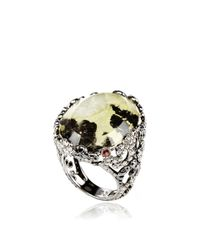 Bochic - Multicolor Moss Agate Ring Diamond and Sapphire Ring - Lyst