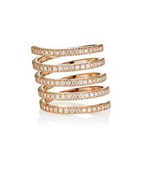 Roberto Marroni - Metallic Diamond Spiral Ring - Lyst