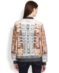 Clover Canyon   Multicolor Woven Metal Perforated Printed Neoprene Jacket   Lyst