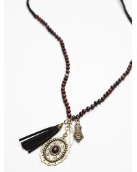 Free People | Red Womens Coastal Bead Pendant | Lyst