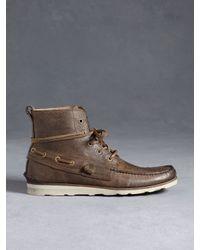 John Varvatos | Brown Lugger Boat Boot for Men | Lyst
