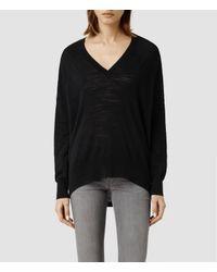 AllSaints | Black Balance Sweater | Lyst