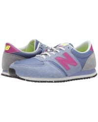 New Balance | Gray 420 Suede and Leather Low-Top Sneakers | Lyst